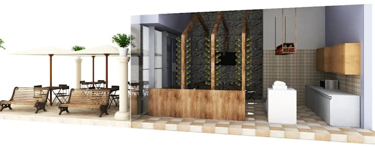 TARQUINO _ CAFÉ : Locales gastronómicos de estilo  por tresarquitectos