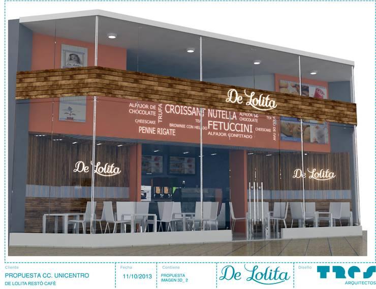 DeLolita Unicentro: Espacios comerciales de estilo  por tresarquitectos