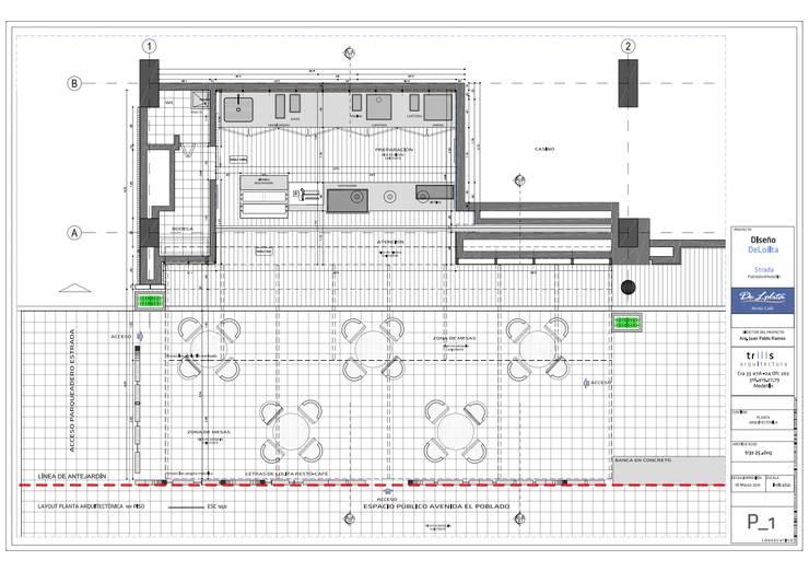 De Lolita - La Strada:  de estilo  por @tresarquitectos, Moderno
