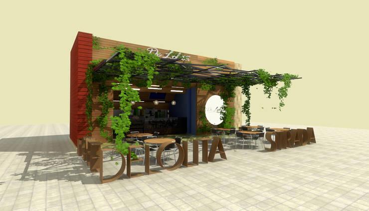 De Lolita - La Strada: Locales gastronómicos de estilo  por @tresarquitectos, Moderno