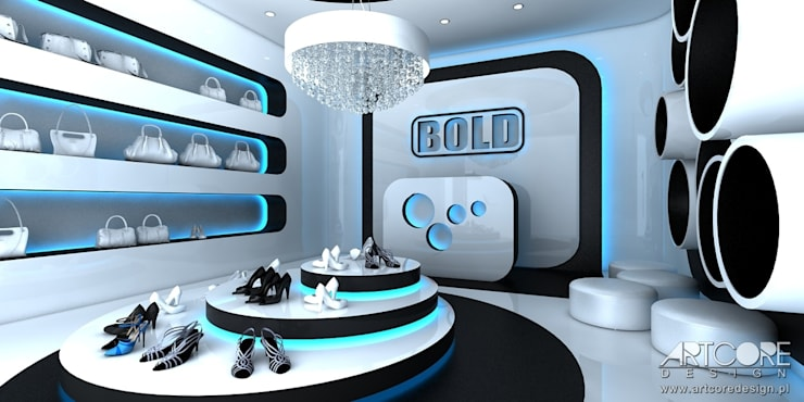 Projekt wnętrza sklepu: styl , w kategorii  zaprojektowany przez ArtCore Design