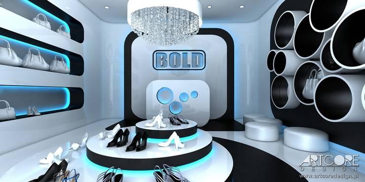 Ice Cold - projekt wnętrza butique: styl , w kategorii  zaprojektowany przez ArtCore Design