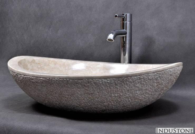 Umywalki z kamienia naturalnego: styl , w kategorii  zaprojektowany przez Industone.pl,Eklektyczny