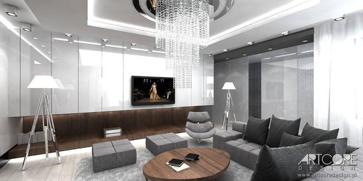 Projektowanie wnętrz nowoczesnego domu: styl , w kategorii Salon zaprojektowany przez ArtCore Design,Skandynawski