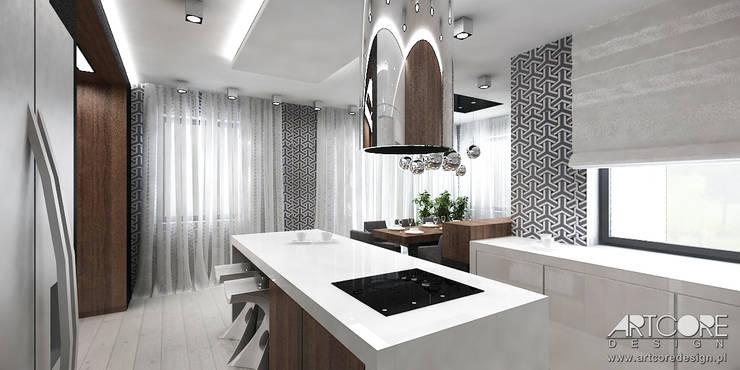Projektowanie wnętrz kuchni w nowoczesnym domu: styl , w kategorii Kuchnia zaprojektowany przez ArtCore Design,Skandynawski