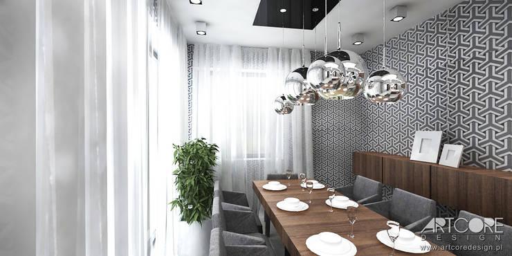Projekt wnętrza jadalni: styl , w kategorii Kuchnia zaprojektowany przez ArtCore Design,Skandynawski