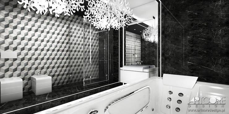 So Choco - Projekt Wnętrza nowoczesnej rezydencji: styl , w kategorii Łazienka zaprojektowany przez ArtCore Design,Nowoczesny