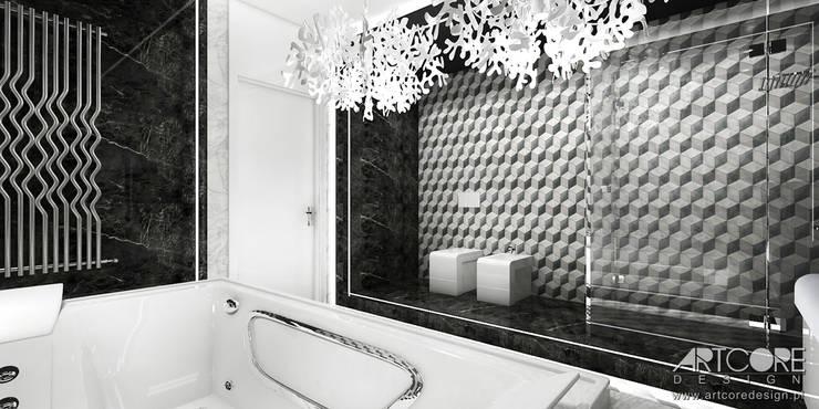 Projek wnętrza nowoczesnej łazienki: styl , w kategorii Łazienka zaprojektowany przez ArtCore Design,Nowoczesny