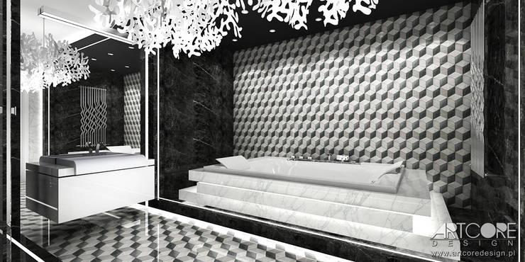 Łazienka w nowoczesnym stylu : styl , w kategorii Łazienka zaprojektowany przez ArtCore Design