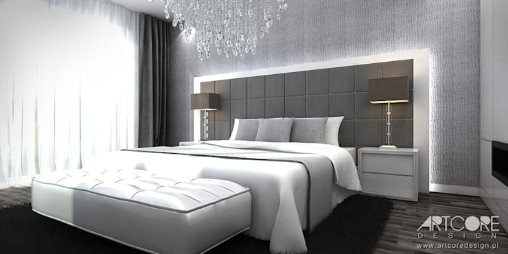 غرفة نوم تنفيذ ArtCore Design