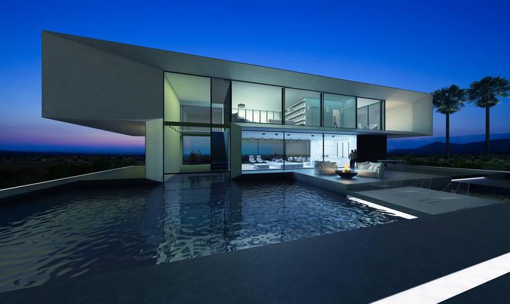 T house | 300m2: Дома в . Автор – ALEXANDER ZHIDKOV ARCHITECT