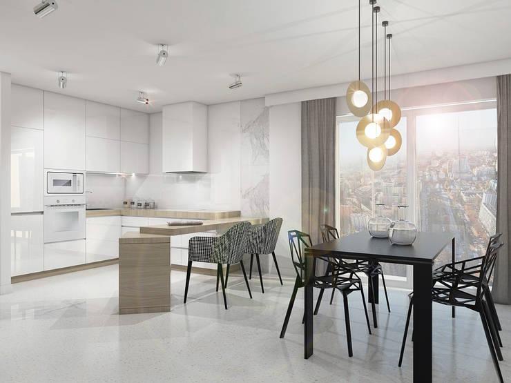 STREFA ODPOCZYNKU: styl , w kategorii Jadalnia zaprojektowany przez UTOO-Pracownia Architektury Wnętrz i Krajobrazu,