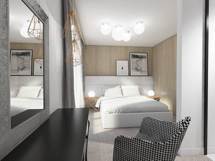 STREFA ODPOCZYNKU: styl , w kategorii Sypialnia zaprojektowany przez UTOO-Pracownia Architektury Wnętrz i Krajobrazu,