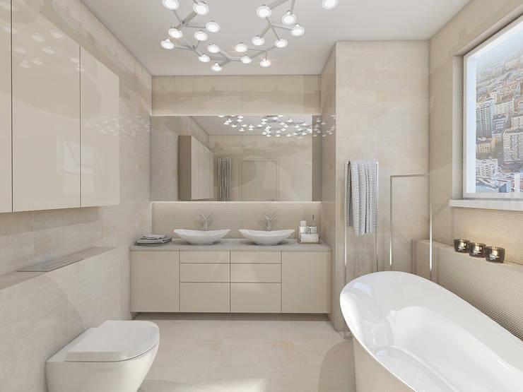 STREFA ODPOCZYNKU: styl , w kategorii Łazienka zaprojektowany przez UTOO-Pracownia Architektury Wnętrz i Krajobrazu,