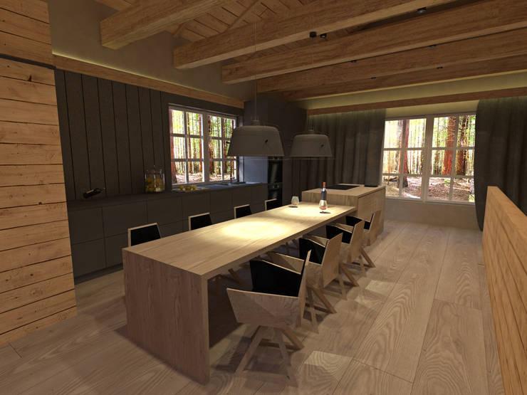 Przestrzeń z wykorzystaniem foteli SIT: styl , w kategorii Kuchnia zaprojektowany przez Delicious Concept
