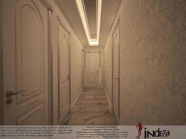 İNDEKSA Mimarlık İç Mimarlık İnşaat Taahüt Ltd.Şti. – YAŞANILABİLECEK ALANLAR TASARLIYOR VE YAPIYORUZ..:  tarz Koridor, Hol & Merdivenler