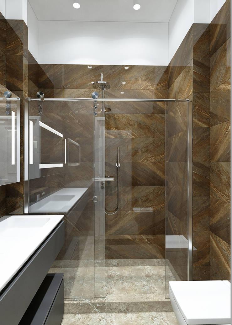 Душевая: Ванные комнаты в . Автор – Бюро9 - Екатерина Ялалтынова