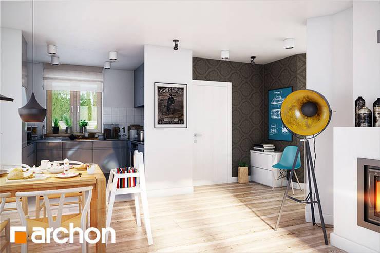 krzesło Wicker: styl , w kategorii Jadalnia zaprojektowany przez ArchonHome.pl