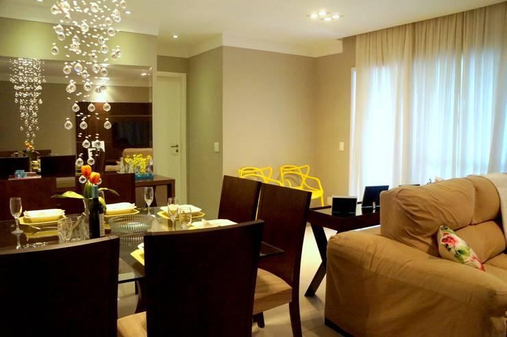 APARTAMENTO ATS: Salas de estar modernas por TAED ARQUITETURA