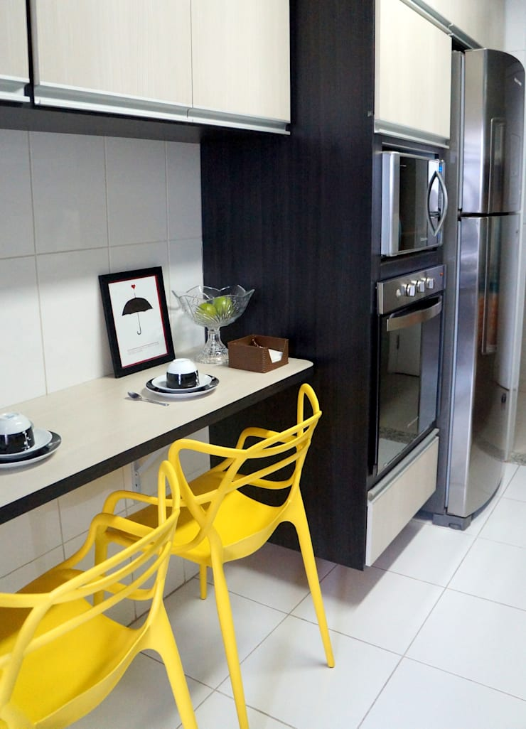 APARTAMENTO ATS: Cozinhas modernas por TAED ARQUITETURA