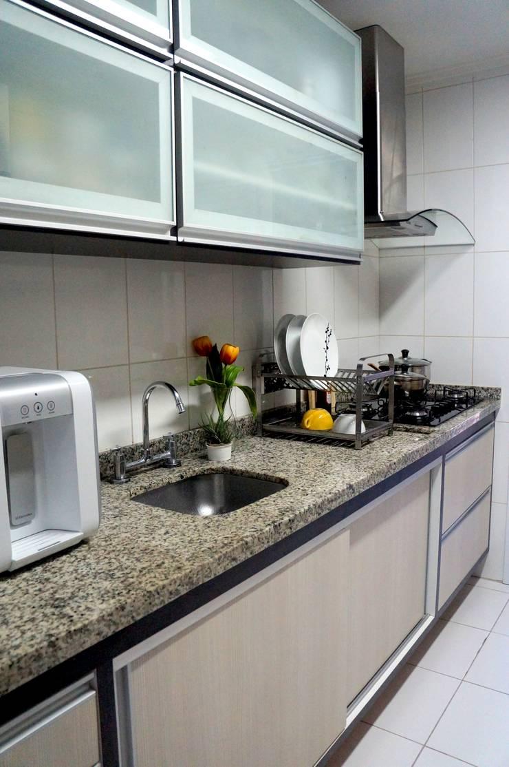 APARTAMENTO ATS: Cozinhas  por TAED ARQUITETURA