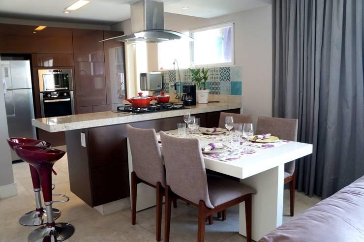 APARTAMENTO RMP: Salas de jantar  por TAED ARQUITETURA
