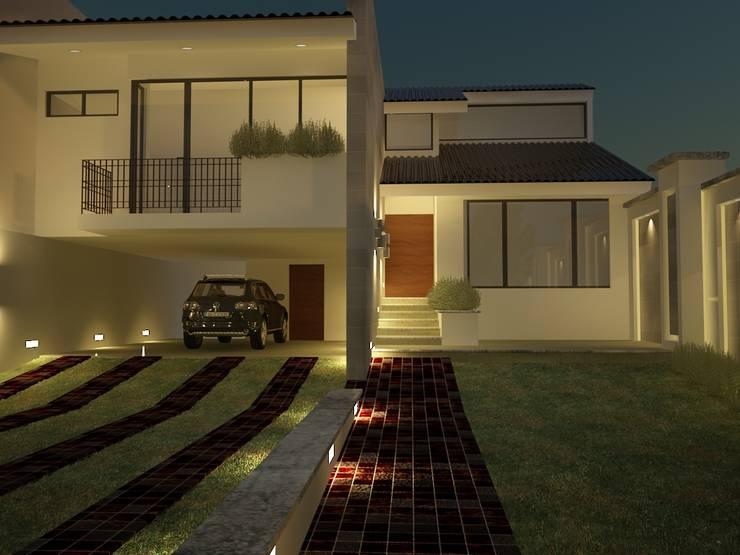 Residencia Cervantes: Garajes de estilo  por AQ3 Arquitectos