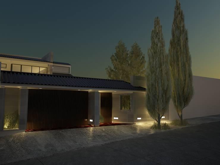 Residencia Cervantes: Casas de estilo  por AQ3 Arquitectos