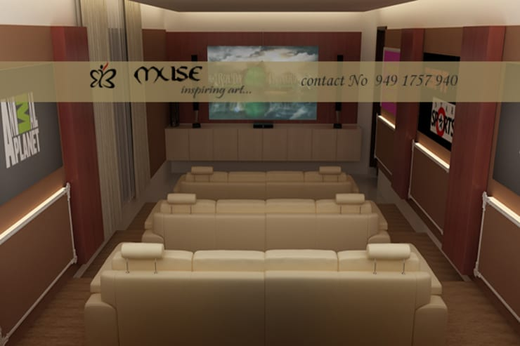 Ruang Multimedia oleh Muse Interiors, Modern