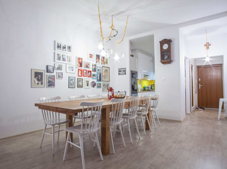 scandinavian Dining room by Patyna Projekt