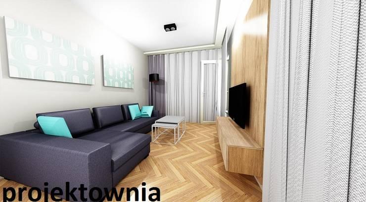 apartament Villa Park: styl , w kategorii Salon zaprojektowany przez Projektownia Marzena Dąbrowska