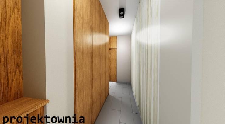 apartament Villa Park: styl , w kategorii Korytarz, przedpokój zaprojektowany przez Projektownia Marzena Dąbrowska