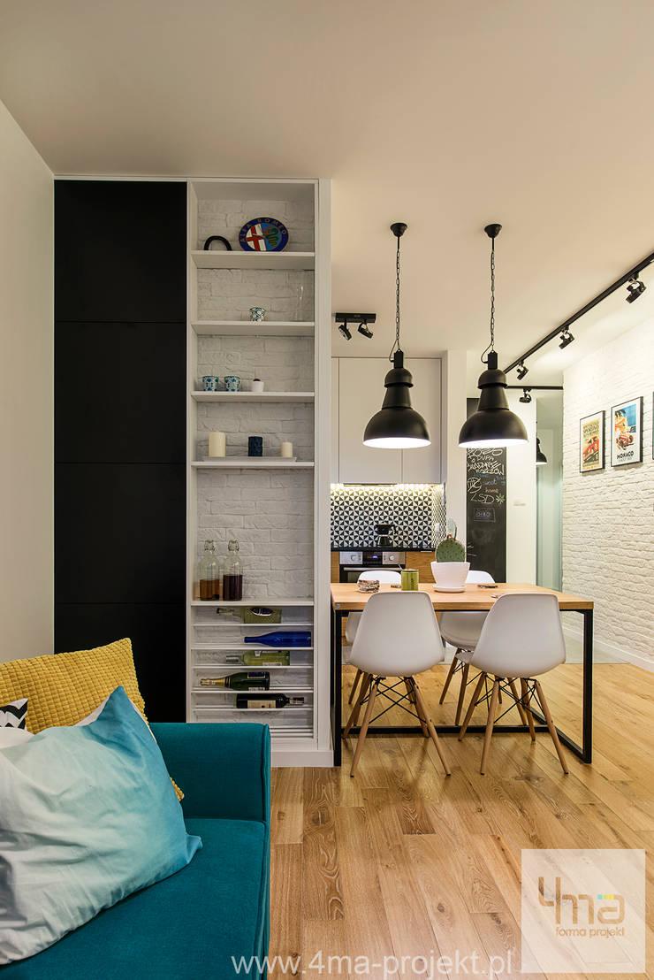 Projekt mieszkania o pow. 66 m2.: styl , w kategorii Salon zaprojektowany przez 4ma projekt