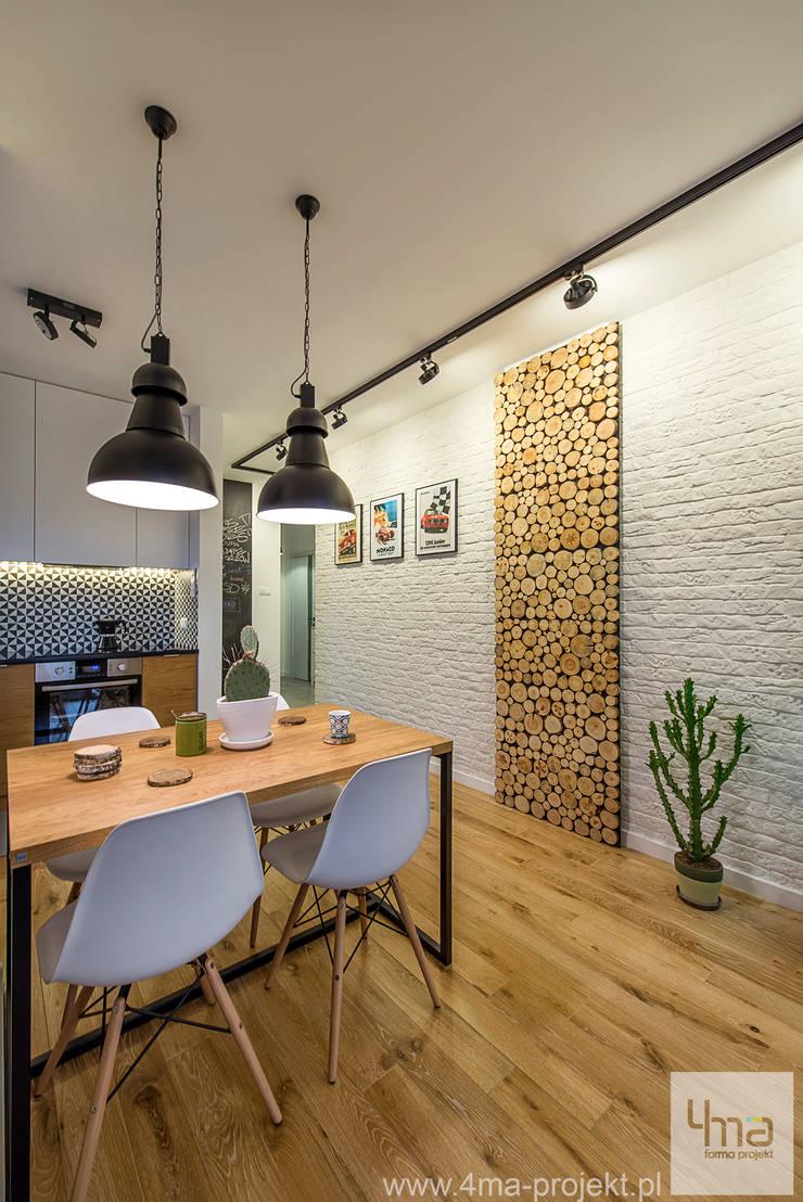 Projekt mieszkania o pow. 66 m2.: styl , w kategorii Jadalnia zaprojektowany przez 4ma projekt
