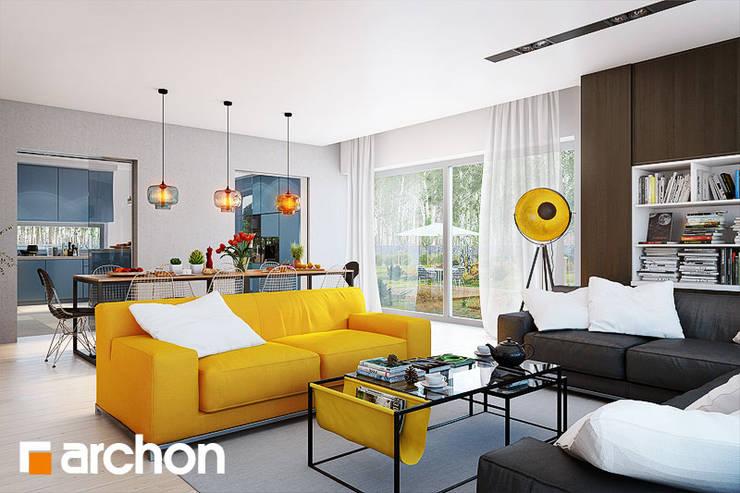 lampa Studio: styl , w kategorii Salon zaprojektowany przez ArchonHome.pl