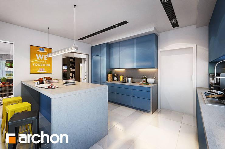 Hoker Paris żółty - inspirowany Tolix: styl , w kategorii Kuchnia zaprojektowany przez ArchonHome.pl