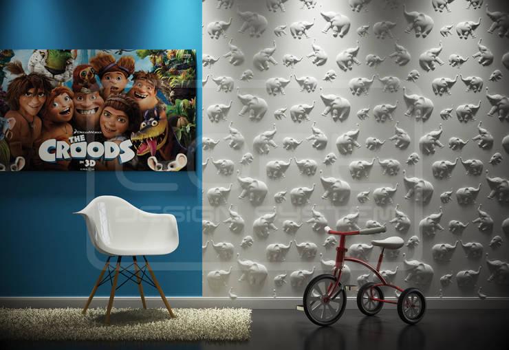 Panele Dekoracyjne 3D - Loft Design System - model Jungle: styl , w kategorii Ściany i podłogi zaprojektowany przez Loft Design System
