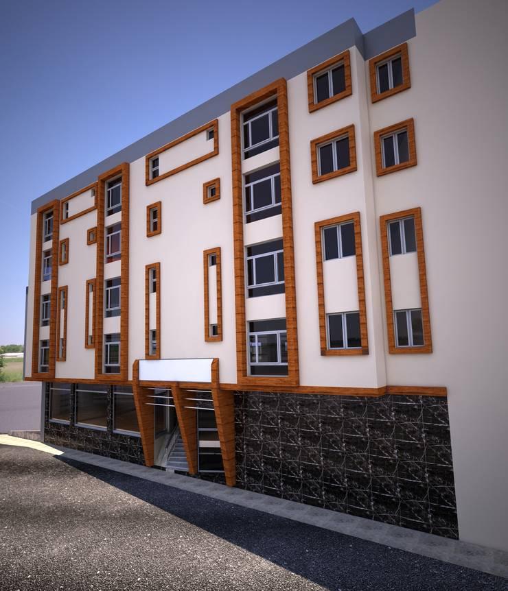 H.E: Mimarlık – Şemikler İş Merkezi Dış Cephe Çalışması :  tarz Evler