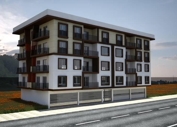 H.E: Mimarlık – Ahmet Bey Edremit Konut Projesidir.:  tarz Evler, Modern