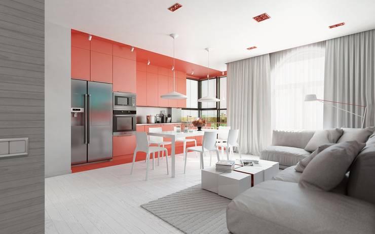 minimalistic Living room by Aleksey Bereznyak