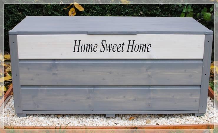 Drewniany kufer ogrodowy, skrzynia - Home Sweet Home: styl , w kategorii  zaprojektowany przez MT WoOD,Klasyczny Drewno O efekcie drewna