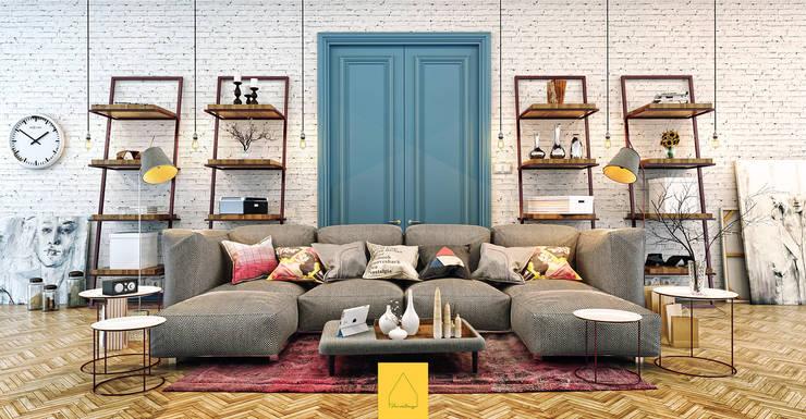 Penintdesign İç Mimarlık  – Living Room: modern tarz Oturma Odası