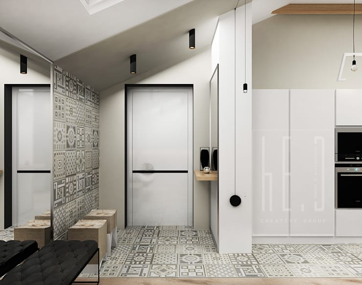 Pasillos, vestíbulos y escaleras de estilo minimalista de he.d group Minimalista