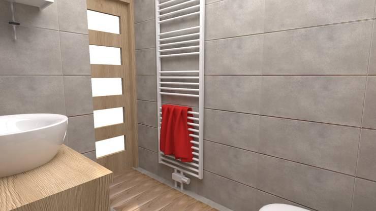 Łazienka: styl , w kategorii Łazienka zaprojektowany przez archJudyta Aranżacja Wnętrz,Nowoczesny Płytki