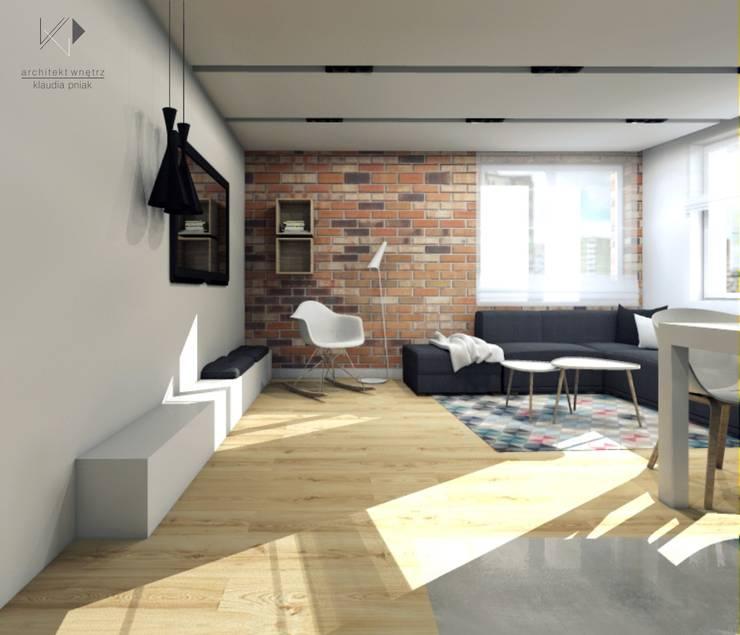 Salon: styl , w kategorii Salon zaprojektowany przez Architekt wnętrz Klaudia Pniak