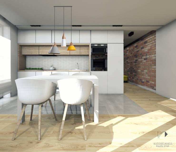 Kuchnia z jadalnią : styl , w kategorii Kuchnia zaprojektowany przez Architekt wnętrz Klaudia Pniak