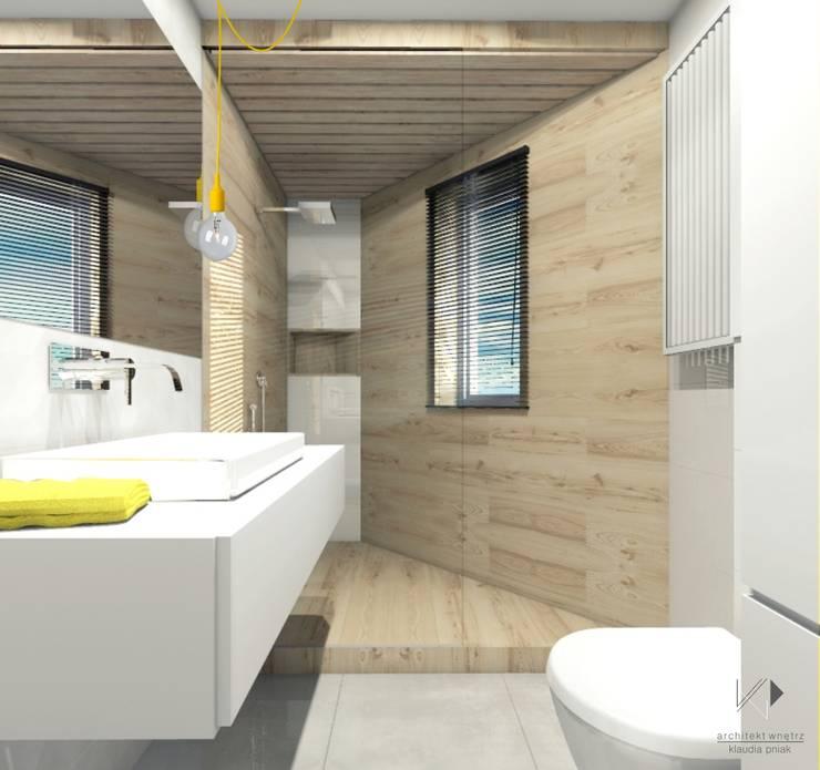 Łazienka : styl , w kategorii Łazienka zaprojektowany przez Architekt wnętrz Klaudia Pniak