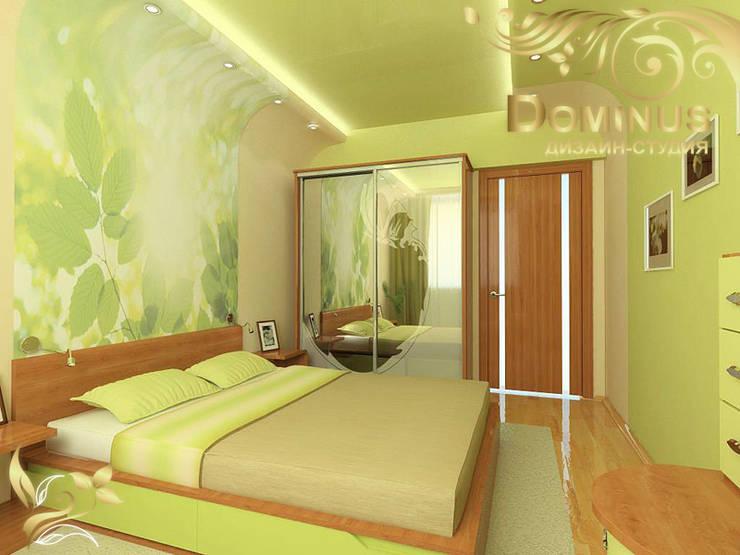 Дизайн-проект 2-комнатной квартиры: Спальни в . Автор – Дизайн-студия DOMINUS