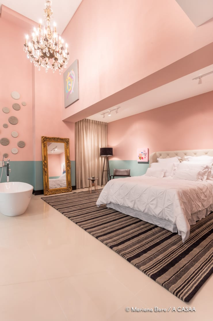 Suite Candy Colors: Quarto  por Jean Felix Arquitetura,