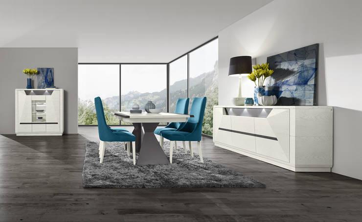Mobiliário de Sala de Jantar Dining Room Furniture www.intense-mobiliario.com  Diamant DM7 http://intense-mobiliario.com/product.php?id_product=9827: Sala de jantar  por Intense mobiliário e interiores;